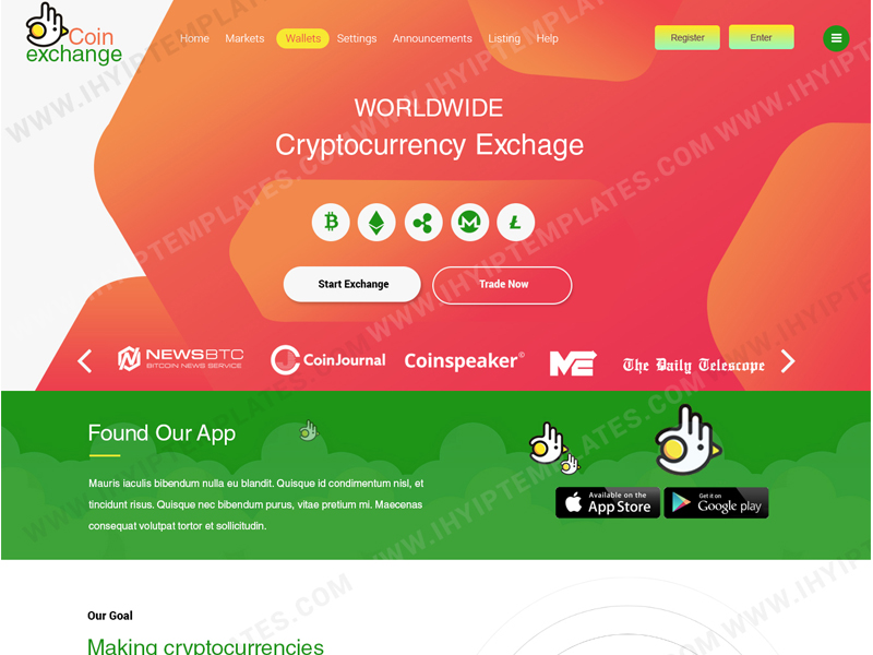 cryptocurrency exchange trading templates